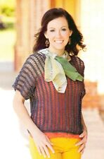 SUMMER Midnight Lace Top/Apparel/ Crochet Pattern INSTRUCTIONS ONLY