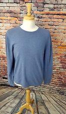 Polo Ralph Lauren Men's L/S Blue Crewneck 100% CASHMERE Pullover Sweater Sz L