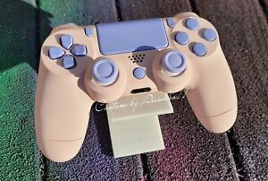 💗PLAYSTATION/PS4 V2 CUSTOM CONTROLLER PASTEL PINK  & PURPLE SOFT TOUCH 💜