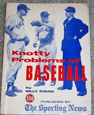 1957 THE SPORTING NEWS KNOTTY PROBLEMS OF BASEBALL by BILLY EVANS (RETIRED MAJOR