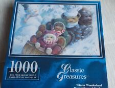 Classic Treasures Winter Wonderland 1000 Piece Puzzle Teddy Bears Snowman New