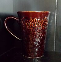 Kahlua Coffee Drink Mug. Brown and Black with a Textured Bean Finish Rare New