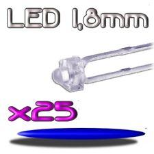 361/25# LED bleu 1,8mm 25pcs --- 2000mcd