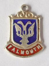 Falmouth charm vintage sterling silver shield enamel travel  (2)