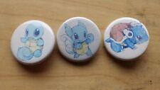 "Pokemon Squirtle Wartortle Blastoise Pin / Button 1-1/4"" New Unused Handmade"
