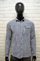 LEE Camicia Uomo Slim Fit Taglia Size M Maglia Polo Manica Lunga Shirt Men Slim