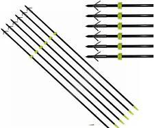 "6xArchery 34"" Bow Fishing Fish Arrows Hunting Arrow head with Silver Torpedo Tip"