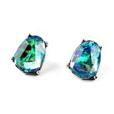 1 Pair Charm Simple Blue MYSTICAL Manual Gems Geometry Women Cocktail Earrings