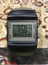 RARE PRE OWNED NEW CONDITION NIKE SLEDGE METTLE PRESS WATCH WC0038 BLUE/GREY