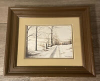ORIGINAL Ernst EKBERG Painting 1854 - 1906 Winter Landscape