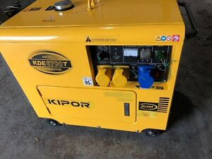 diesel generator 5 KVA electric start,great condition, 10 hours use from new