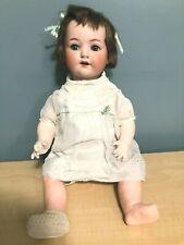 "Sc Antique Germany Heubach Koppelsdorf Bisque Head Doll 320-7 22"" Vtg baby"