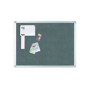 "Ayda Gray Felt Bulletin Board, 18"" X 24"", Aluminum Frame"