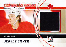 11-12 ITG Al MacInnis Jersey Silver Canada vs The World 2011 Canadian Cloth
