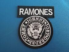 PUNK ROCK HEAVY METAL MUSIC SEW / IRON ON PATCH:- RAMONES