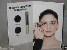 NEW BOBBI BROWN DISCOVER LONG-WEAR GEL EYE LINER BLACK + STEE + MINI BRUSH SAMPL
