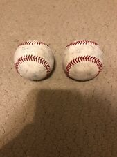 Rawlings 2017 Post Season Game MLB Official Game Baseball Used From Cubs ST (2x)