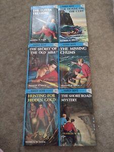 Hardy Boys Mystery Blue hardback book set of 6 Pristine condition