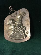 Early Rabbit Riding Lamb Rocker Tin Chocolate Mold~Anton Reiche,Dresden #32445