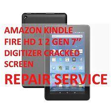 AMAZON KINDLE FIRE HD 1 2 GEN DIGITIZER BROKEN SCREEN MAIL-IN REPAIR SERVICE