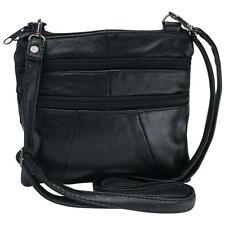Embassy™ Solid  Black Genuine Leather Purse or Shoulder Bag - Women's Handbag