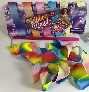 10-Foot Rainbow Dance Ribbon Twirling Gymnastics Cosplay Marching Dress-Up Fun