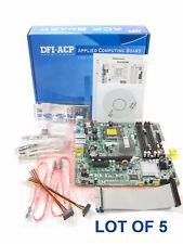 LOT of 5 DFI ITOX EL330-DR LGA 775 Intel Micro-ATX Industrial Grade Motherboards