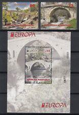 MACEDONIA 2018 EUROPA BRIDGES.BLOCK + 2 stamps  MNH