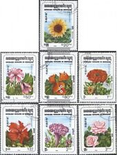 Cambodia 510-516 (complete issue) used 1983 Flowers