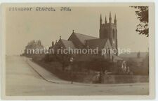 Pitsmoor Church Sheffield 1904 Real Photo Postcard, C014