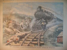 ETATS-UNIS OHIO MOUNT-VERNON TRAIN LOCOMOTIVE JOURNAL LE PETIT PARISIEN 1905