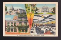 Hotel Occidental On Famous Pennsylvania Ave near The White House WA DC Postcard