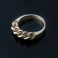 LATVIAN ethnic SILVER and GOLD  SPECIAL Double Twisted NAMEJS RING from LATVIA