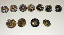 antique (11)  Metal FLORAL BUTTONS  & others **lovely**