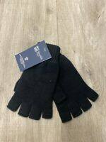 100% Cashmere Fingerless Gloves | Johnstons of Elgin | Made in Scotland | Black