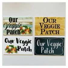 Our Veggie Patch Vintage Rustic Farm Vegetables Garden Gardening Sign