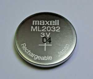 Maxell ML2032 2032 Rechargeable Coin Cell Battery 3V Japan Manufactured Apr 2020