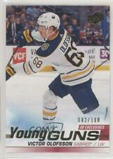 2019-20 Upper Deck Young Guns UD Exclusives /100 Victor Olofsson #207 Rookie