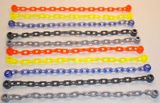 Lego 10 x Mixed Chain 21 Links Long Trans Purple Green Orange Light & Dark Grey