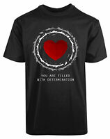 You Are Filled With Determination New Men's Shirt Under tale Game Funny Top Tee