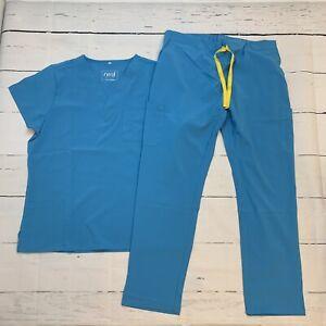 Revel Premium Stretch Sloam Turquoise Scrub Set Size 1X