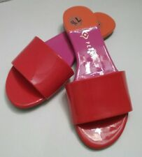 Katy Perry Women's The rossi Flat Sandal Summer  Sz 7. 5   Red / Pink / Orange