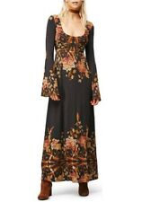 FREE PEOPLE Midnight Garden Maxi Dress Black Combo Size XS $148 NWT OB553492