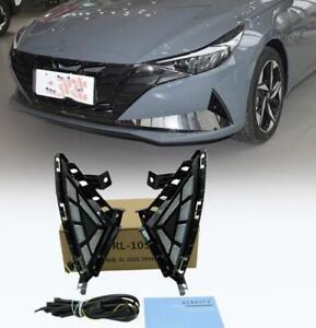 For 2021 Hyundai Elantra DRL LED Daytime running lights with turn signals 2pcs