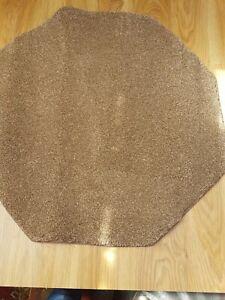 92cm Brown Fleck Octagon Rug Mat Super Soft Thick Cut Pile Carpet Hard Back #226