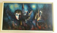 SURREALISM ABSTRACT EXPRESSIONIST PAINTING RUSSIAN ? HUNGARIAN? MODERNISM SIGNED