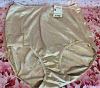 Vintage Panties Adonna Nylon Full Brief Beige Size  XXL/ 9  NWT