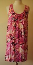 Apt 9 Pink Tropical print night gown Size XX-Large sleeveless