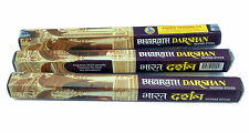 Bharath Darshan Incense Sticks 3 Boxes  x 20 (60) Temple Stregnth Incense Stick