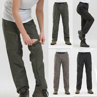 Mens Womens Zip Off Leg Convertible Cargo Work Pants Tactical Combat Trousers XL